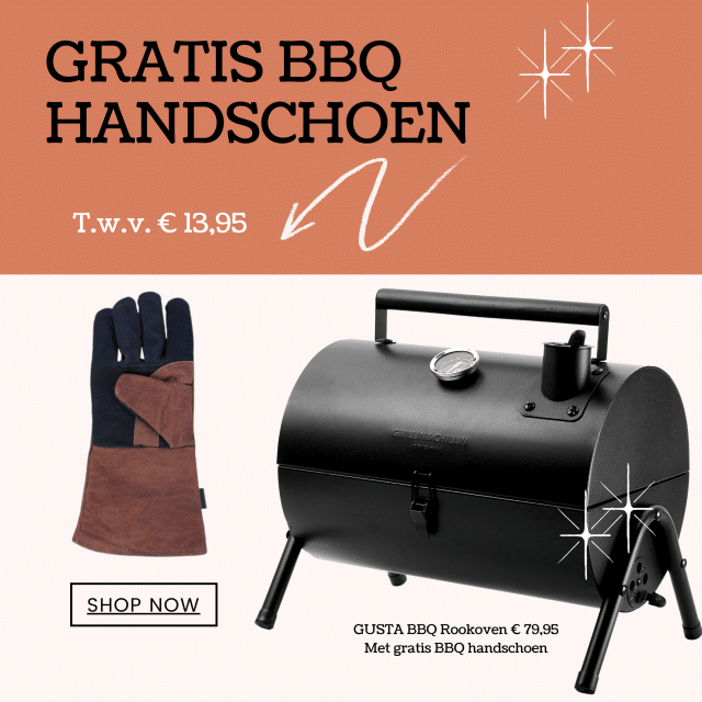Gusta rookoven met gratis BBQ handschoen