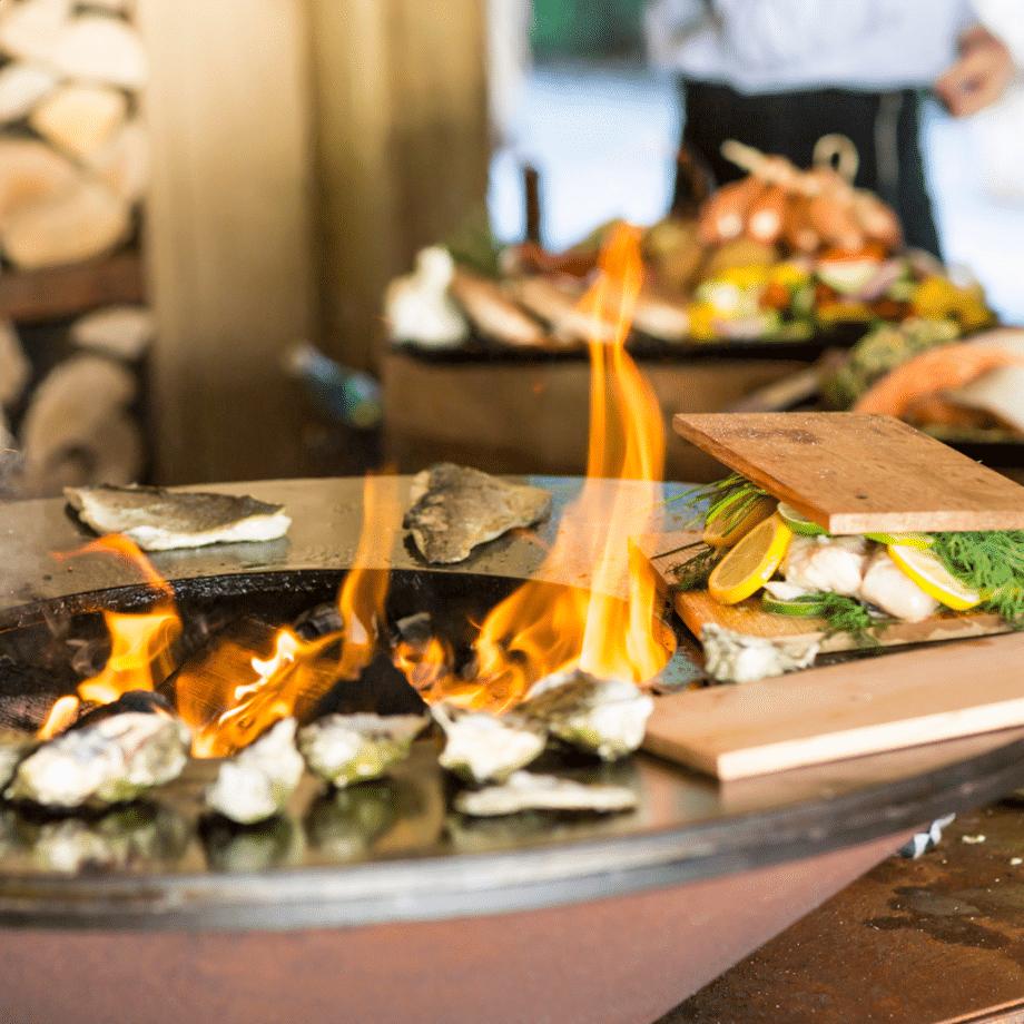 OFYR corten classic 85 rookplankje oesters